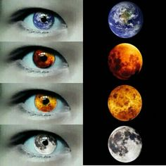 Planets in my eye