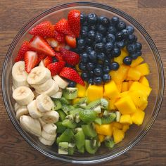 Rainbow Fruit Salad With Honey Lime Dressing - Rainbow Fruit Salad With Honey L. - Rainbow Fruit Salad With Honey Lime Dressing – Rainbow Fruit Salad With Honey Lime Dressing - Healthy Fruits, Fruits And Veggies, Healthy Snacks, Healthy Eating, Healthy Recipes, Fruits Basket, Clean Eating, Vegetables List, Healthy Fruit Desserts