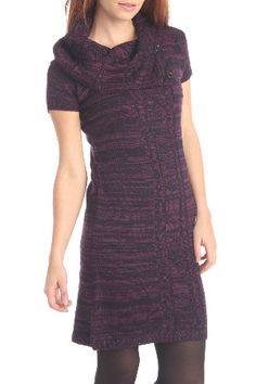 Soft sweater dresses can be worn with stockings or leggings, boots. Short sleeved and lower neck for comfort.