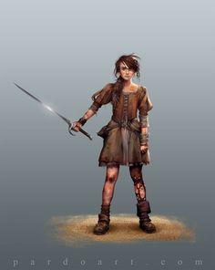 Concept Art - Arya Stark by ~pardoart on deviantART