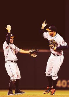 Jose Altuve & George Springer // Houston Astros