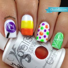 Halloween Candy Nail Art - Chickettes