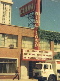 1050 Chum Radio Station 1331 Yonge Street 1976 Hi I listen to CHUM!