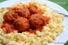 Plus mäsové guľky so zemiakovými haluškami (fotorecept)
