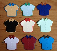 10 Plain mens boys Shirts Die cuts for card toppers for male card - assembled ready to use on Etsy, £2.25