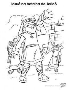 Desenhos para colorir e pintar: Moisés e Josué...