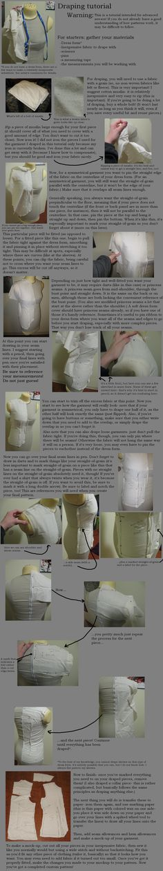 Tutorial: Draping patterns by Animus-Panthera.deviantart.com