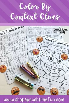 Color By Context Clues - have fun building tier 2 vocabulary with this hands on activity for speech and language therapy