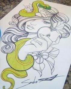 Monster Tattoo, Tattoos, Art, Tatuajes, Tattoo, Japanese Tattoos, Kunst, Tattoo Illustration, A Tattoo
