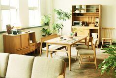 SIGNE(シグネ) キッチンボード W1190/オープン ナチュラル | ≪unico≫オンラインショップ:家具/インテリア/ソファ/ラグ等の販売。