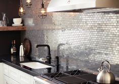 Interiors | Urban Metallic Kitchen - DustJacket Attic http://dustjacket-attic.com/2015/02/interiors-urban-metallic-kitchen.html/