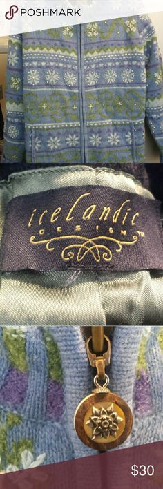 Icelandic Design ski cardigan Lined wool blend cardigan sweater with fun zipper perfect for ski season. Icelandic Design  Sweaters Cardigans