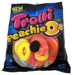 Peachie O's from our collection of Trolli candy are addicting. Once you have a taste of their sweet peachy goodness, you won't be able to stop! @Trolli Candy