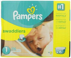 Pampers Swaddlers Diapers Size 1 Economy Pack Plus 216 Count Pampers  $46