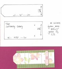 Instructions for Mini-Post It Note Holder by debvk - Cards and Paper Crafts at Splitcoaststampers Post It Pad, Post It Note Holders, Scrapbooking, Decorate Notebook, Shaped Cards, Craft Show Ideas, Sticky Notes, Craft Fairs, Mini Albums