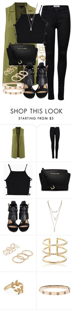 """""""Untitled #4485"""" by angela379 ❤ liked on Polyvore featuring ONLY, MICHAEL Michael Kors, Wet Seal, MANGO, Astrid & Miyu, Forever 21, women's clothing, women's fashion, women and female"""