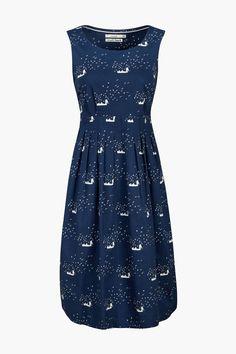 Flattering full skirt dress, in unique Seasalt prints inspired by Cornwall…