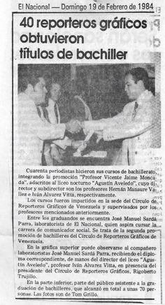 40 reporteros gráficos obtuvieron títulos de bachiller. Publicado el 19 de febrero de 1984