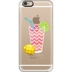 iPhone 6 Plus/6/5/5s/5c Case - Summer Fruity Lemons and Limes Lemonade Juicy Drink on Transparent Background