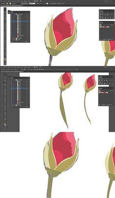 Learn to illustrate rose buds in Adobe Illustrator from this fabulous tutorial by Denise of Denise Anne Studio for Inkstruck Studio