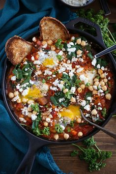 Eggplant, Chickpea, and Chard Shakshuka
