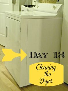 Cleaning the Dryer - helps to prevent fires!