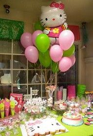 Ideas for my daughter's birthday- she wants a Hello Kitty party