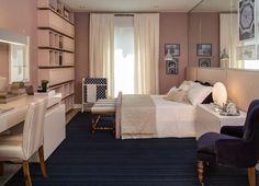 Inspiração decoração quarto feminino rosa (Arquiteta: Paula Magnani)