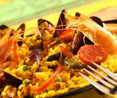 seafood recipes | Recipe Seafood paella - Mussels recipes, moules frites, mussels in ...