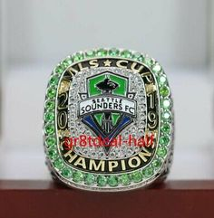 We we gladly help you find the best solution. Championship Rings, World Championship, Ny Red Bulls, Mls Cup, Mls Soccer, Seattle Sounders, Major League Soccer, Soccer Shirts, Bow Ties