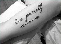 Tatuajes en el braso letra cursiva - Arm tattoo