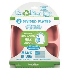 RePlay Recycled Plates- 3 Pack