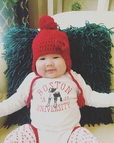 Boston University pure bred. Go Terriers! #Bostonuniversity #baby #cowgirllaw #vscocam #akdphi #lphie #ig_motherhood by jenny_donglaw