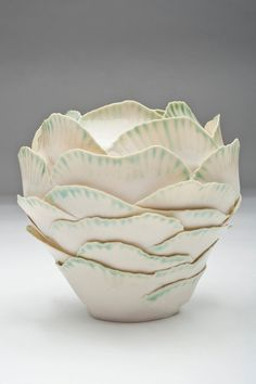 Layered Porcelain Vase large by JBowlesstudios on Etsy, $192.00