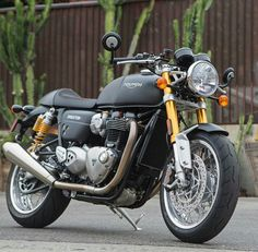 Triumph Thruxton R, might not be customized but it sure does look mean straight out of the factory... just may be my next bike!