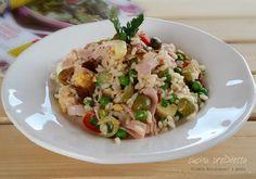 Insalata di riso con tonno e piselli, ricetta, cucina preDiletta