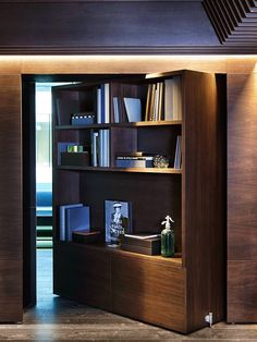 """James Bond Room"" at Arkwright #Oslo office, by Haptic #Architects (Photography by Inger Marie Grini.) #bookcase #secretdoor"