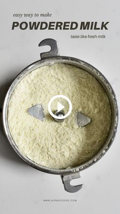 How to make powdered milk at home from fresh milk - using just a large saucepan and fresh milk. Plus, reconstituting milk powder and various uses. Milk Recipes, Cheese Recipes, Indian Food Recipes, Snack Recipes, Dessert Recipes, Cooking Recipes, Milk Powder Recipe, Soy Milk Powder, Milk Cookies