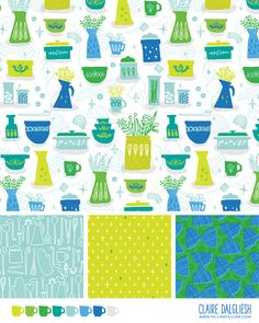 Perfectly Pyrex Pattern by Claire Dalgliesh