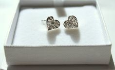 New beautifully stylized 925 Silver Heart Shaped Ladies Elegant Earrings Silver Earrings, Stud Earrings, 925 Silver, Sterling Silver, Heart Shaped Earrings, Heart Shapes, Silver Plate, Elegant, Lady