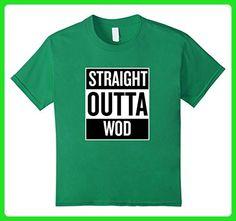 Kids Straight Outta Wod Fitness Workout T Shirt 6 Kelly Green - Workout shirts (*Amazon Partner-Link)