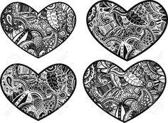Doodle Designs Heart Doodle Heart Design Art