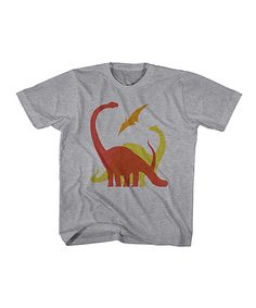 Heather Gray Dinosaur Tee - Toddler & Kids by American Classics #zulily #zulilyfinds
