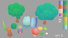 Low Poly Set 1 ~ ForestAssets used to make this scene