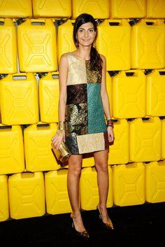 Giovanna Battaglia at the Charity Ball in New York.