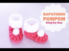 Baby Knitted PomPom Shoes :: Tutorial