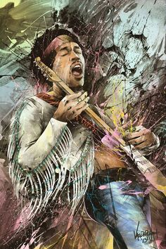 Jimi Hendrix, Does't this give you the idea when he jumped up on stage he could really play guitar