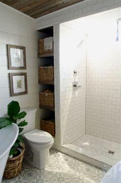 Modern Farmhouse Bathroom Remodel Ideas (26) #smallBathrooms