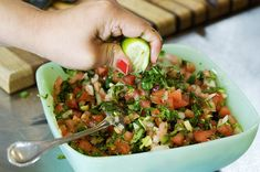 Pico de Gallo with an avocado Guacamole option by Ree Drummond / The Pioneer Woman -- Pico de Gallo is best with garden fresh in season tomatoes, peppers & cilantro