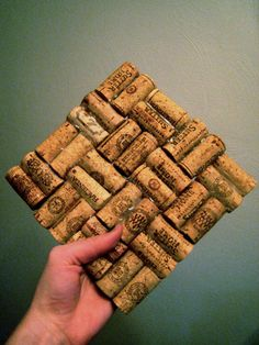 Wine Cork Trivet  Hot Plate  Fun gift by FranPollick on Etsy, $9.00